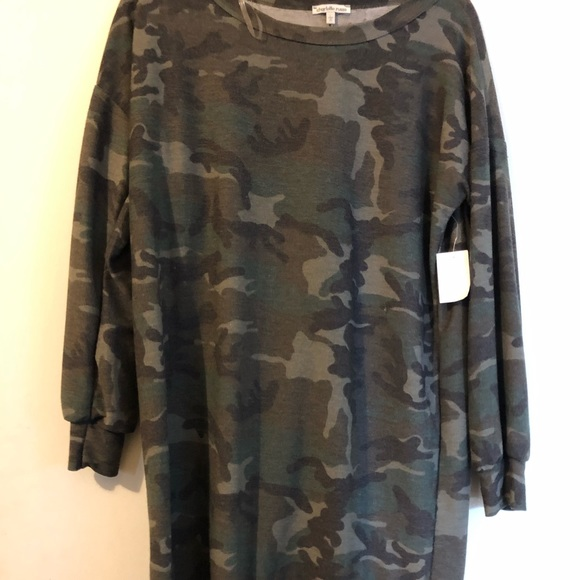 08da318f70a CHARLOTTE RUSSE camo sweater dress